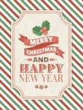 De vrolijke kaart van de Kerstmisgroet Royalty-vrije Stock Afbeeldingen