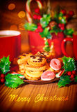 De vrolijke kaart van de Kerstmisgroet Stock Foto
