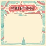 De vrolijke kaart van de Kerstmisgroet, uitnodiging, affiche of achtergrond Stock Foto's