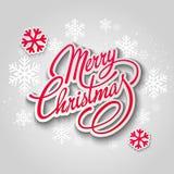 De vrolijke kaart van de Kerstmisgroet Van letters voorziend Document Royalty-vrije Stock Afbeelding