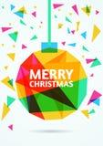 De vrolijke kaart van de Kerstmisgroet Vector illustratie Stock Fotografie