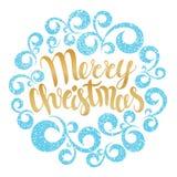 De vrolijke kaart van de Kerstmisgroet Vector illustratie Vrolijke Christus Royalty-vrije Stock Foto