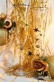 De vrolijke kaart van de Kerstmisvakantie Stock Afbeeldingen