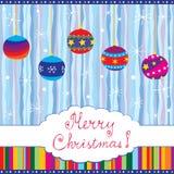 De vrolijke kaart van Kerstmis Stock Foto