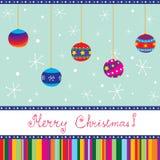 De vrolijke kaart van Kerstmis Stock Afbeelding