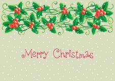 De vrolijke kaart van de Kerstmisgroet Stock Illustratie