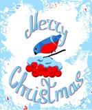 De vrolijke kaart van de Kerstmisgroet stock fotografie