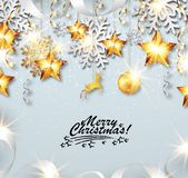 De vrolijke kaart van de Kerstmisgroet royalty-vrije illustratie