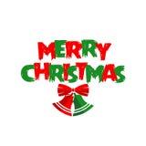 De vrolijke kaart van Kerstmisgroeten Royalty-vrije Stock Afbeeldingen
