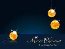 De vrolijke Kerstmis-Gelukkige illustratie van het Nieuwjaar Stock Fotografie