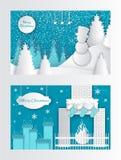 De vrolijke Kerstmis Verwijderde Brand van de Groetkaart, Sokken royalty-vrije illustratie