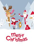 De vrolijke Kerstmishuid - en - zoekt Stock Foto's