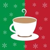 De vrolijke Koffie van de Kerstmis Hete Chocolade Stock Foto's