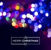 De vrolijke lichte achtergrond van het Kerstmisonduidelijke beeld bokeh Royalty-vrije Stock Foto's