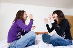 De vrolijke Meisjes van de Tiener Stock Fotografie