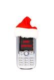 De vrolijke mobiele telefoon van Kerstmis Royalty-vrije Stock Foto's