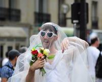 De vrolijke Parade van de Trots om vrolijke rechten te steunen Royalty-vrije Stock Afbeelding