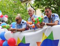 De vrolijke Parade van de Trots om vrolijke rechten te steunen Royalty-vrije Stock Fotografie