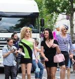 De vrolijke Parade van de Trots om vrolijke rechten te steunen Royalty-vrije Stock Foto