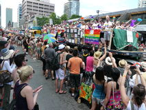 De vrolijke Parade van de Trots, Toronto, 2011 royalty-vrije stock fotografie