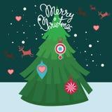 De vrolijke prentbriefkaar van Kerstmis Royalty-vrije Stock Fotografie