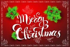De vrolijke prentbriefkaar van Kerstmis vector illustratie