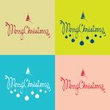 De vrolijke prentbriefkaaren van Kerstmis royalty-vrije illustratie