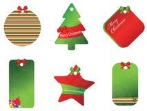 De vrolijke reeks van de Kerstmiskaart Royalty-vrije Stock Foto's
