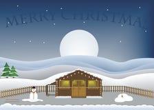 De vrolijke scène van Kerstmis Royalty-vrije Illustratie