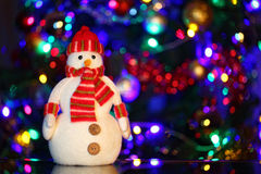 De vrolijke Sneeuwman van Kerstmis Royalty-vrije Stock Afbeeldingen