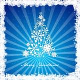 De vrolijke sneeuwvlok van de Kerstmisboom Stock Afbeeldingen