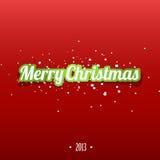 De vrolijke sticker van Kerstmis Stock Foto