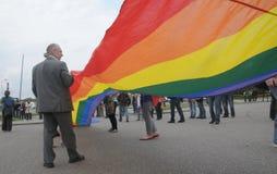 De vrolijke trots maart van Litouwen Royalty-vrije Stock Fotografie