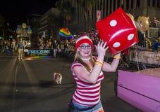 De vrolijke trots van Las Vegas Stock Foto's