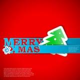 De vrolijke van de de strokenkaart van Kerstmis vectorillustratie eps10 Stock Fotografie