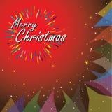 De vrolijke vectorillustratie van de Kerstmisvakantie Royalty-vrije Stock Foto