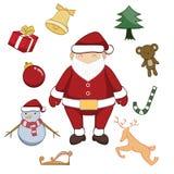De vrolijke vectorillustratie van het Kerstmisbeeldverhaal Stock Foto's