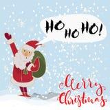 De vrolijke vectorIllustratie van Kerstmis Stock Foto