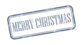 De vrolijke Vectorillustratie van de Kerstmis grungy zegel Royalty-vrije Illustratie