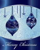 De vrolijke VectorKaart van Kerstmis Stock Afbeelding