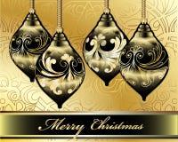 De vrolijke VectorKaart van Kerstmis Stock Afbeeldingen