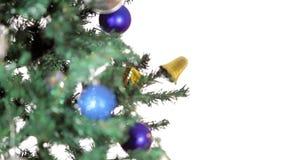 De vrolijke videokaart van de Kerstmisvakantie stock video