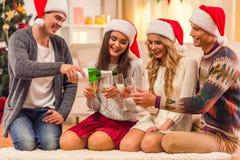 De vrolijke viering van Kerstmis Royalty-vrije Stock Foto's