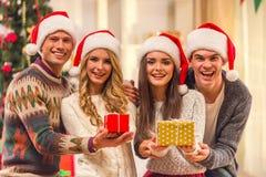 De vrolijke viering van Kerstmis Royalty-vrije Stock Fotografie