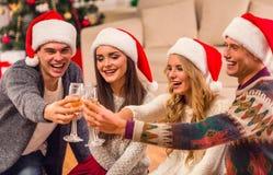 De vrolijke viering van Kerstmis Royalty-vrije Stock Foto