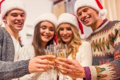 De vrolijke viering van Kerstmis Royalty-vrije Stock Afbeelding