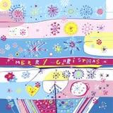 De vrolijke Vierkante Kaart van Kerstmis Stock Afbeelding