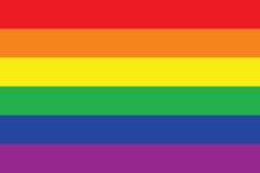 De vrolijke Vlag van de Trots Stock Fotografie