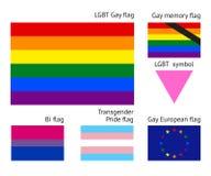 De Vrolijke vlaggen van LGBT vector illustratie