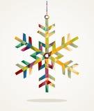De vrolijke vorm van de Kerstmissneeuwvlok met driehoekssamenstelling EPS10 vector illustratie